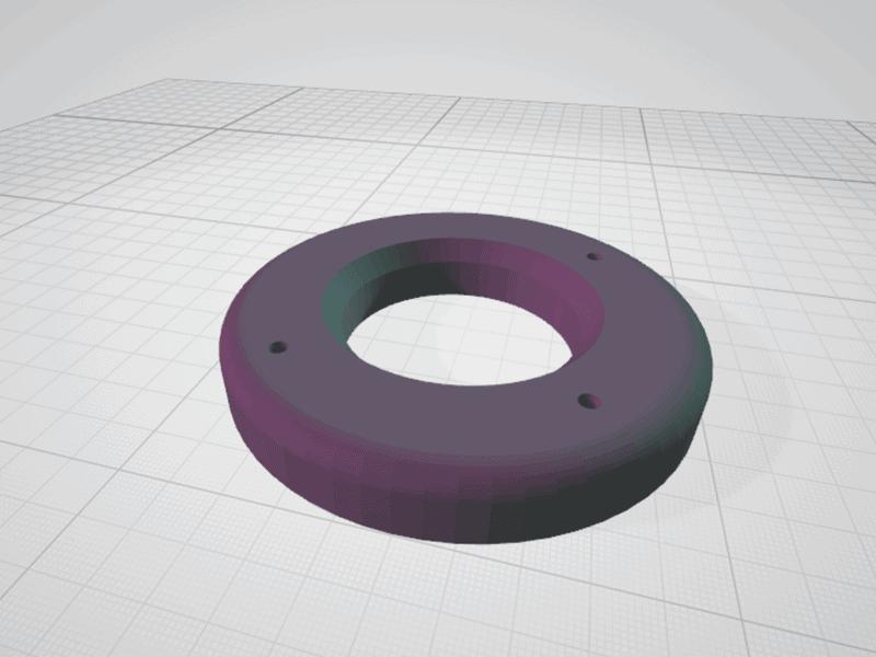 vue 3D STL potager 3D couvercle