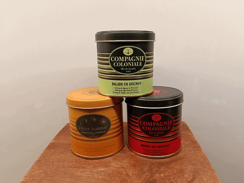 boite de thé compagnie coloniale
