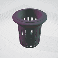 vue 3D STL potager 3D pot